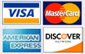Visa, Mastercard and American Express